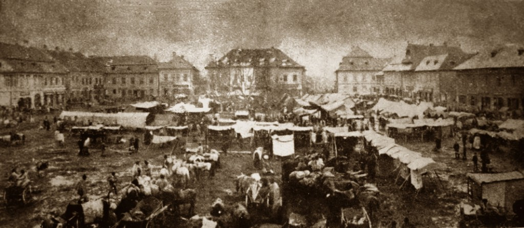 foto 2 Baia Mare anii 1890 Targ in Centrul Vechi