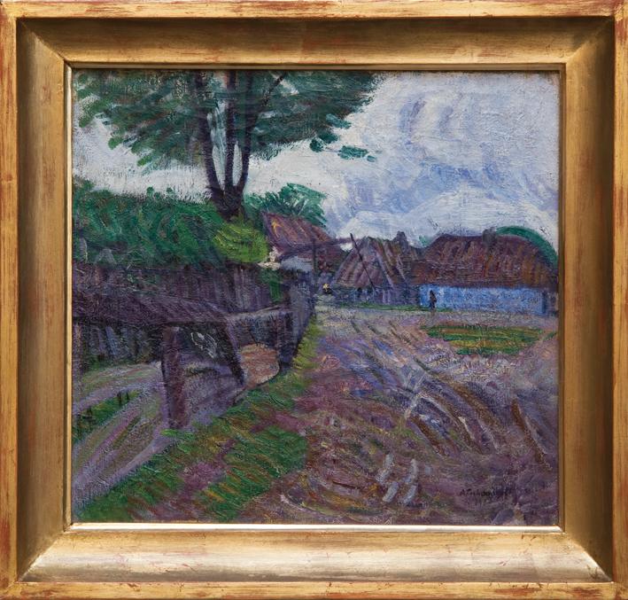 Aleksandr Nilovich Tikhomirov (1889-?) Peisaj la Teceu (1911)