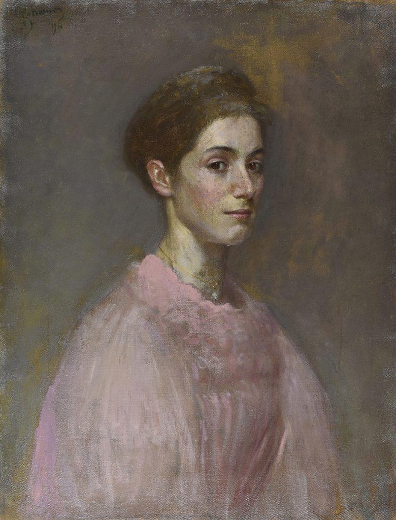 Georg SCHWARTZ, Portret de femeie (1896)