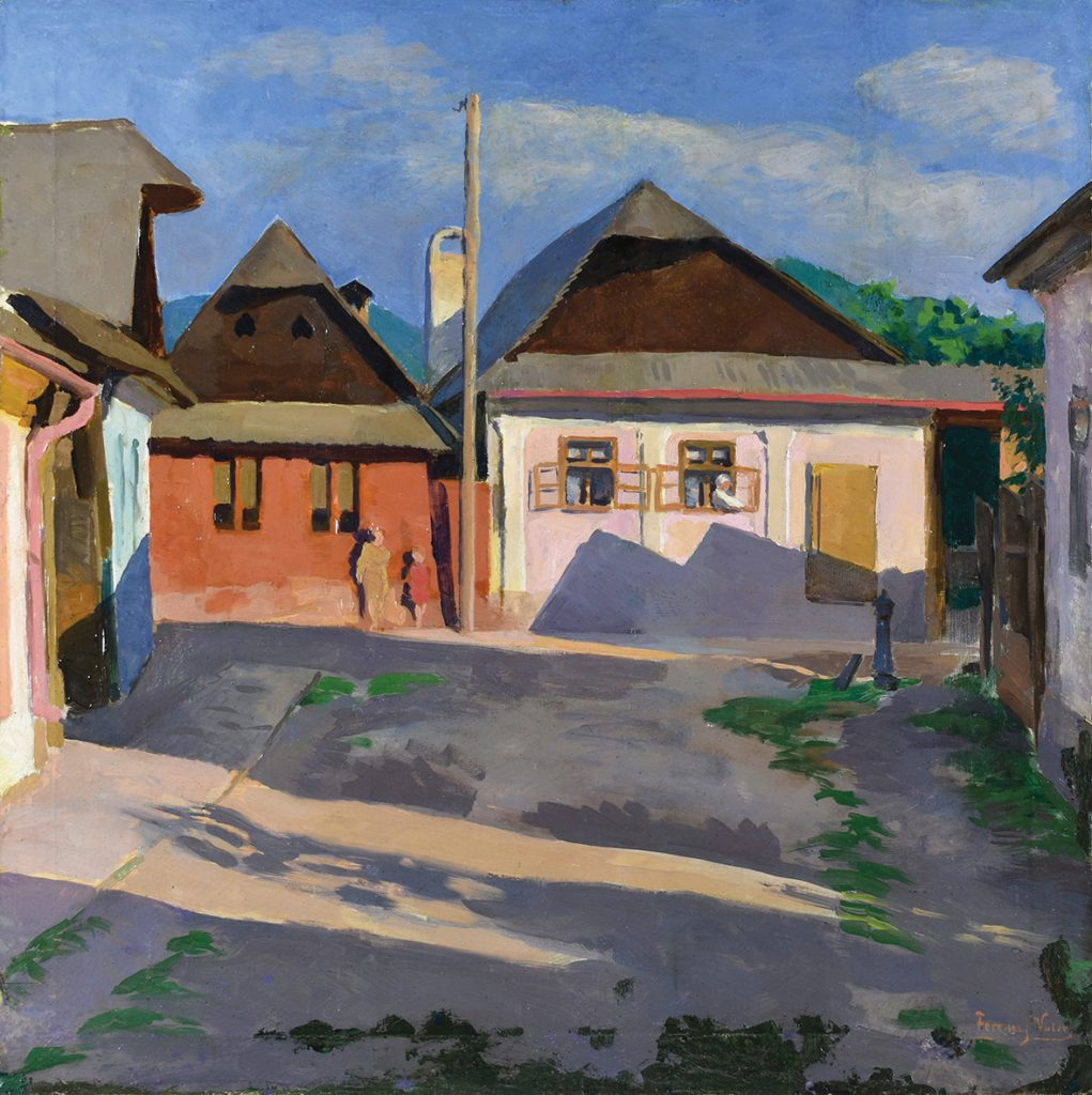 Valér FERENCZY (1885-1954), Stradă veche din Baia Mare (1910)